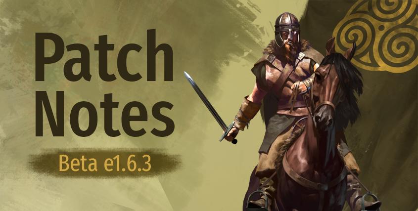 Beta Patch Notes e1.6.3