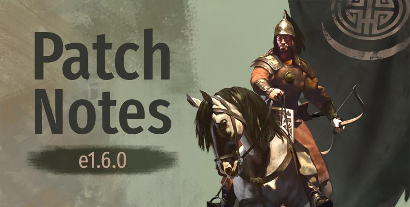 Nuevo parche 1.6.0 y beta 1.6.1 de Mount and Blade: Bannerlord   Patchnotes-e1.6.0